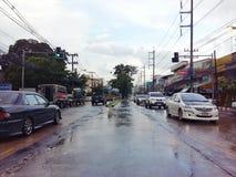 Trafik Thailand Arkivfoton