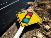 Trafik undertecknar in den sydostliga asiatet arkivfoton