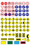 Trafik-väg teckensamling Royaltyfria Bilder