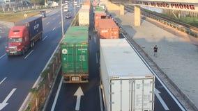Trafikblodstockning vid olyckor arkivfilmer