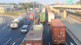 Trafikblodstockning vid olyckor stock video