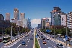 Trafiken i Peking Arkivfoto