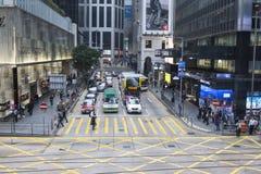 Trafiken i staden arkivbilder