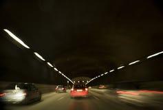 Trafikera i tunnel Fotografering för Bildbyråer