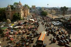 Trafikera systemet i Indien Arkivfoto