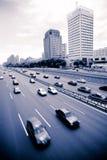 Trafikera till och med centra Royaltyfria Foton