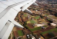 trafikflygplan Arkivfoto
