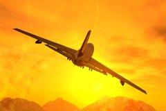 trafikflygplan Royaltyfri Bild