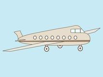 Trafikflygplanpassagerare Arkivbilder