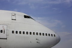 trafikflygplanpassagerare royaltyfria foton