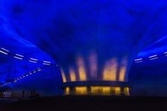 Trafikkarusell i tunnel royaltyfri bild
