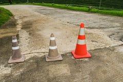 Trafikkotte på den konkreta vägen Royaltyfri Foto