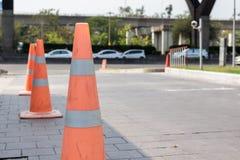 Trafikkotte på gatan Arkivbilder
