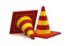 Trafikkotte som isoleras på vit - 3d Fotografering för Bildbyråer