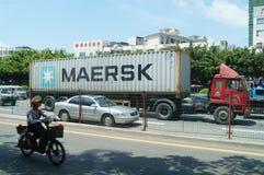 Trafiklandskap av den Shenzhen 107 medborgarevägen Royaltyfria Bilder