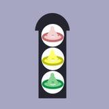 Trafikljus av vård- skydd Royaltyfri Foto