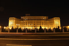 Trafikljus framme av huset av parlamentet Fotografering för Bildbyråer