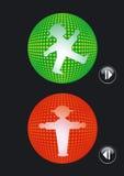 Trafikljus går och stoppar Arkivfoton