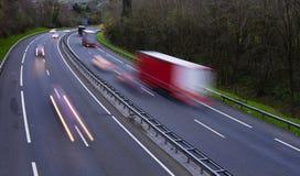 Trafikljus i vägen Fotografering för Bildbyråer