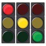 Trafikljus med olika färger Royaltyfri Foto