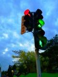 trafikljus på natten i porslin fotografering för bildbyråer
