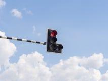 Trafikljus: Rött ljus Arkivbild