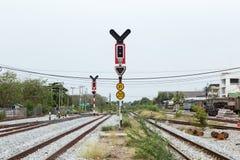 Trafikljusjärnväg Royaltyfri Fotografi