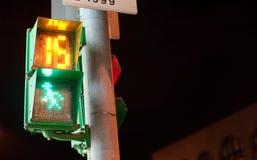 Trafikljusman med nedräkning Royaltyfri Bild