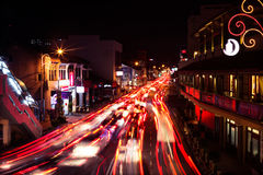 Trafiknoja i Penang Arkivbilder