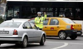 Trafikpolis Fotografering för Bildbyråer