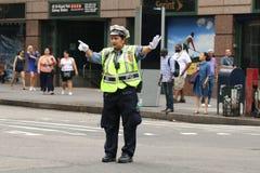 Trafikpolisen i New York City Arkivfoton