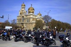 Trafikpolisen på den motoriska festen Royaltyfria Foton