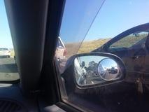 Trafiksikt för bakre fönster Arkivbilder