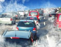 Trafikstockning Arkivbild
