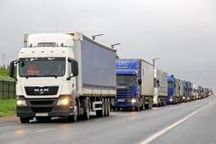 Trafikstockning Arkivfoto