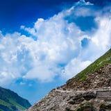 Trafikstockning för Rohtang Lapasserande av bilar Royaltyfri Foto