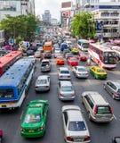 Trafikstockning i Bangkok Arkivfoton