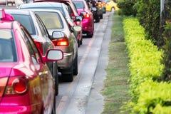 Trafikstockning i Bangkok Arkivfoto