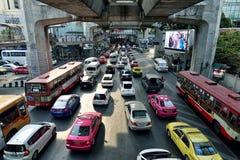 Trafikstockning i Bangkok Royaltyfria Bilder