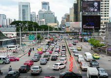 Trafikstockning i Bangkok Fotografering för Bildbyråer