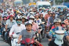 Trafikstockning i den Saigon staden Royaltyfri Foto