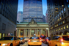 Trafikstockning i Manhattan Arkivbild