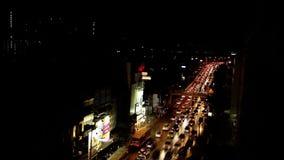 Trafikstockning i stad lager videofilmer