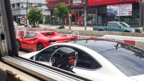 Trafikstockning i Thailand Royaltyfria Bilder