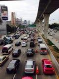 Trafikstockning i Thailand Arkivbild