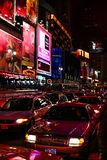 Trafikstockning i Times Square New York City Fotografering för Bildbyråer