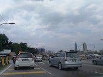 trafikstockning Malaysia arkivfoton