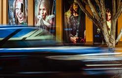 Trafikstockning på den Hollywood boulevarden royaltyfria foton