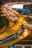 Trafikstockning på den uttryckliga vägen, Bangkok, Thailand Royaltyfri Bild