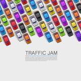 Trafikstockning på vägen Arkivbild